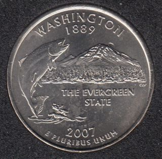 2007 P - B.Unc - Washington - 25 Cents