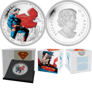2013 - 1 oz $20 Fine Silver Coin - SUPERMAN - Man of Steel™