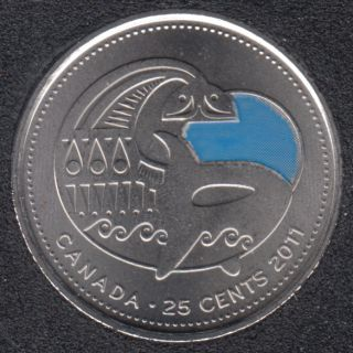 2011 - B.Unc - Baleine Col. - Canada 25 Cents