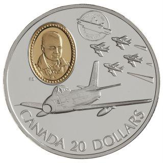 1997 Canada $20 Dollars Argent Sterling - Canadair F-86 Sabre - Vols Motorisés