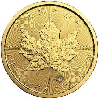 2017 - $50 - 1oz Fine Gold 9999 - Gold Maple Leaf