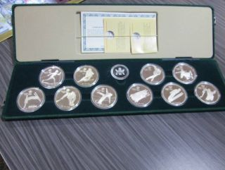 1988 Calgary Olympics $20 Sterling Silver Coin Set - 10 OZ Silver