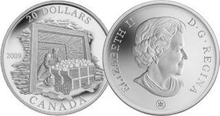 2009 $20 Fine Silver Coin - Coal Mining Trade