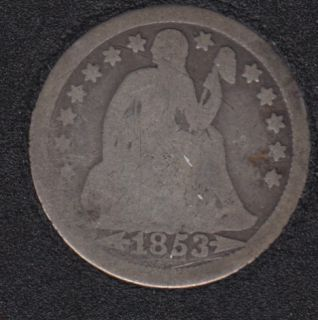 1853 - Liberty Seated - Arrows - 10 Cents