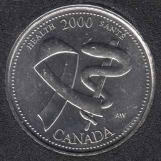 2000 - #4 B.Unc - Health - Canada 25 Cents