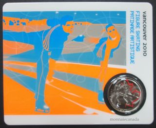 2010 -  25 cents - Vancouver – Figure Skating Circulation Sport Cards
