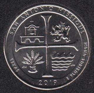2019 D - B.Unc - San Antonio Missions - 25 Cents