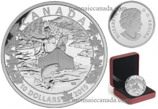 2015 - $10 - 1/2 oz. Fine Silver - Canoe Across Canada - #2 Splendid Surroundings