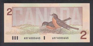 1986 $2 Dollars - UNC - Crow Bouey - Préfixe ARF