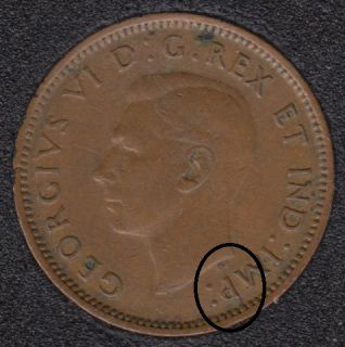 1943 - Break HP to P to Rim - Canada Cent
