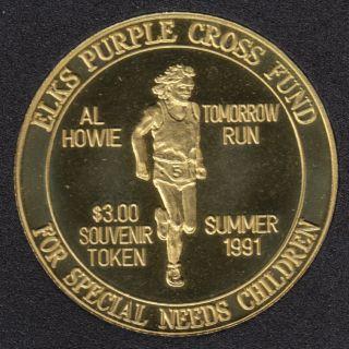 1991 - Elks Purple Cross Fund - $3