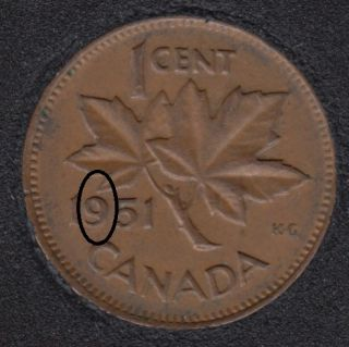 1951 - Double 9 - Canada Cent