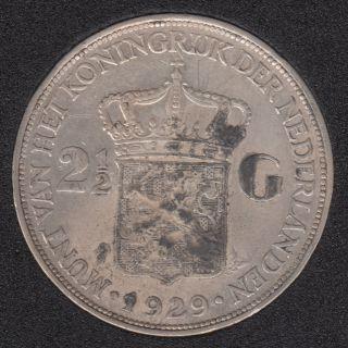 1929 - 2 1/2 Gulden - Netherlands
