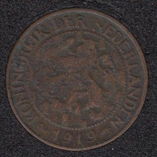1919 - 1 Cent - Pays-Bas