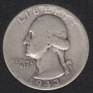 1943 - Washington - 25 Cents
