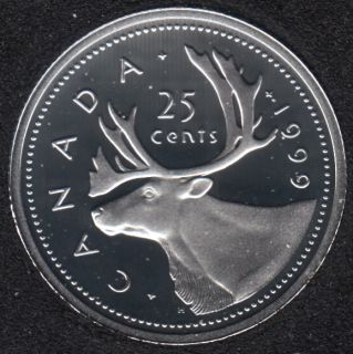 1999 - Proof - Argent - Canada 25 Cents