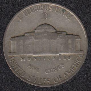 1944 D - Jefferson - Wartime Silver - 5 Cents