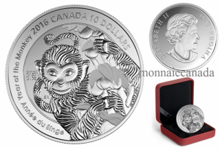 2015 - $10 - 1/2 oz. Fine Silver Coin – Year of the Monkey
