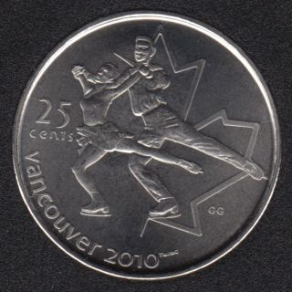 2008 - #3 NBU - Patinage Artistique - Canada 25 Cents