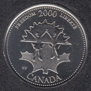 2000 - #911 B.Unc - Freedom - Canada 25 Cents