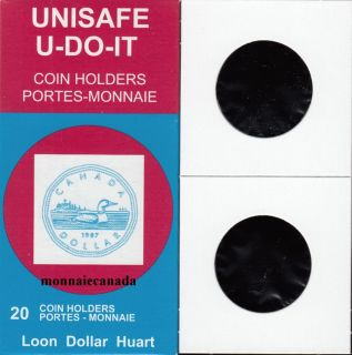 PACK OF 20 CARDBOARD FLIPS 2X2 COINS for Loon Dollar & Large cent****