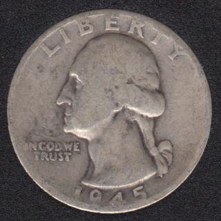 1945 D - Washington - 25 Cents