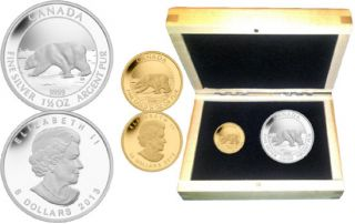 2013 - $7 & $10 - Polar Bear 2-Coin Set