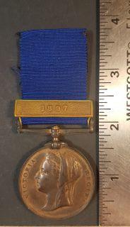 #1-265 Police Queen Victoria Golden Jubilee Medal 1887 Clasp 1897