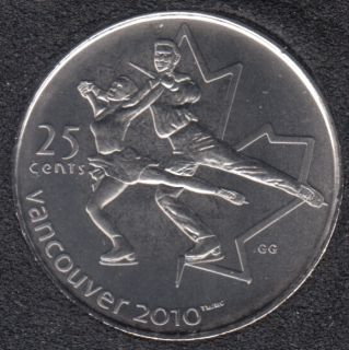2008 - #3 B.Unc - Figure Skating - Canada 25 Cents