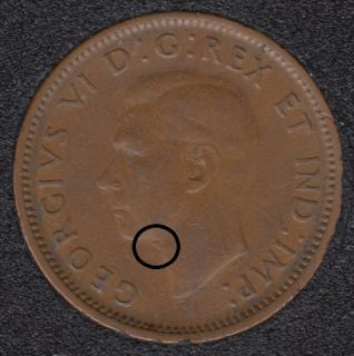 1945 - Dot on Neck - Canada Cent