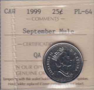 1999 - September Mule - ICCS - PL 64 - Canada 25 Cents