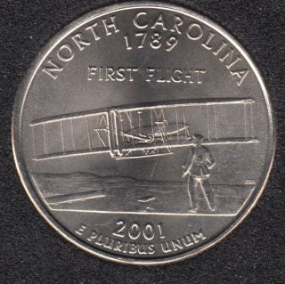 2001 D - North Carolina - 25 Cents