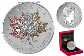 2016 - $300 - 1 oz. Pure Platinum Coin – Maple Leaf Forever