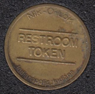 Rest Room Token - Indianapolis Indiana