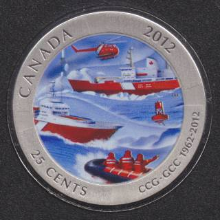 2012 - Specimen - Coast Guard - Canada 25 Cents