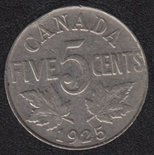 1925 - Canada 5 Cents