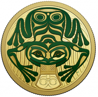 2018 - $100 - 14-karat Gold Coin - Frog Reveals A Gift