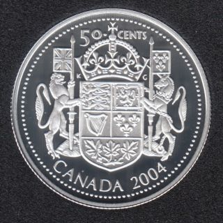 2004 - Proof - Laureate Portrait - Sterling Silver - Canada 50 Cents