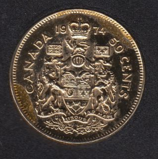 1974 - Gold Plated - Canada 50 Cents