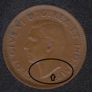 1940 - Break on Bust - Canada Cent