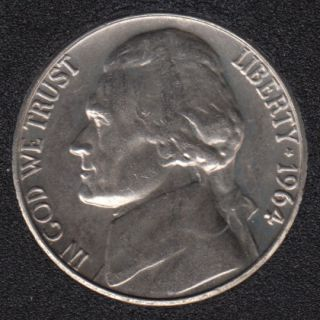1964 D - Jefferson - B.Unc - 5 Cents