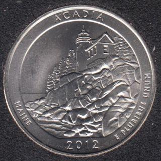 2012 P - Acadia - 25 Cents
