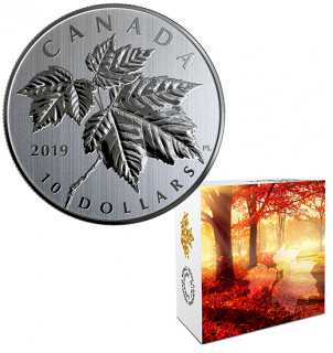 2019 - $10 - 1/2 oz. Pure Silver Coin - The Maple Leaf Coin