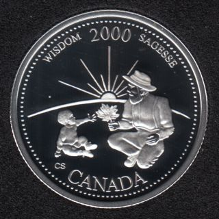 2000 - #9 Proof - Silver - Wisdom - Canada 25 Cents