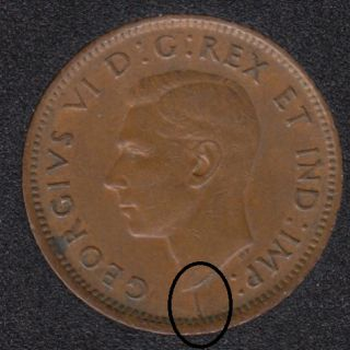 1946 - Break Bust to Rim - Canada Cent