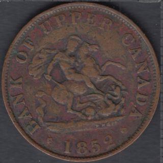 P.C. 1852 Bank of Upper Canada Half Penny - PC-5B1