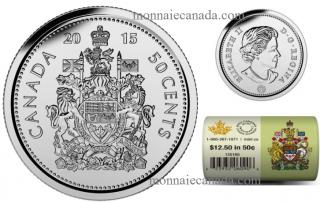 2015 - 50¢ - Rouleau spécial de pièces de circulation