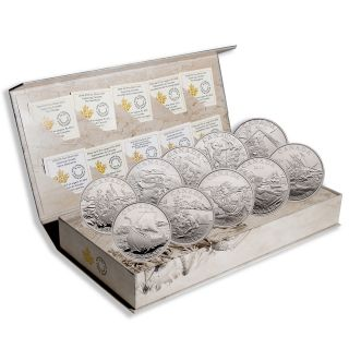 2014 - 2015 - $15 - Fine Silver - Exploring Canada - 10 Coins Set