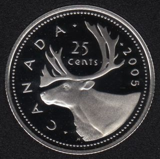 2005 - Proof - Silver - Canada 25 Cents