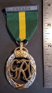 #1-188 Canada Territorial Force Efficiency Decoration Medal to Royal Regiment of Canada Major F.F.L.S. Rolland